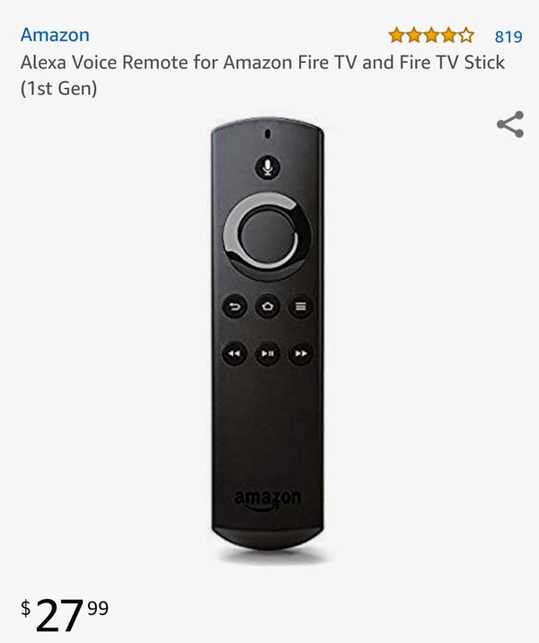Alexa voice remote for Fire TV stick (brand new)