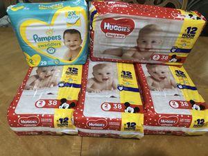 Huggies size 2 diaper bundle for Sale in Fort Lauderdale, FL