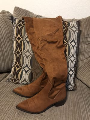 Tan thigh high boots for Sale in Dallas, TX