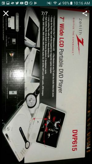 Zenith portable DVD player great condition for Sale in San Jacinto, CA
