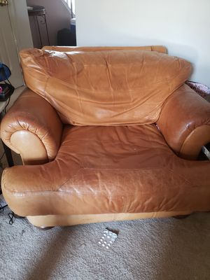 Leather Living Room sofa and chair for Sale in Bowie, MD