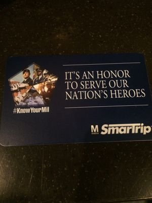 Smart trip card brand new with $12 value for Sale in Washington, DC