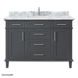 H.D. Collection Sonoma 48 in. W x 22 in. D Vanity with Carrara Marble Top for Sale in Dallas, TX