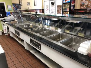 Restaurant booths, steam tables, dining tables and chairs for Sale in Ramona, CA
