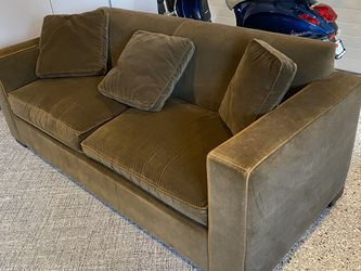 Brown Velour Sofa Bed w/ Inflatable Mattress for Sale in Berkeley,  CA