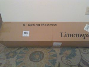 Brand new Linenspa spring mattress and Zinus SmartBase bed frame 190 ofo!! for Sale in Posen, MI