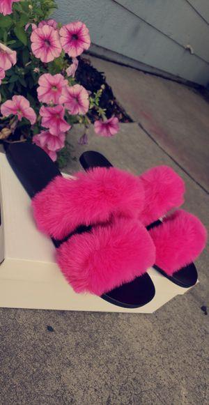 Fur sandals for Sale in Sacramento, CA