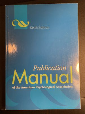 APA Citation Manual 6th Ed for Sale in Pittsburgh, PA