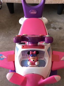 Minnie mouse airplane push car for Sale in Fort Lauderdale,  FL