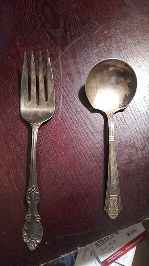 Vintage Silver spoon and fork for Sale in Lutz, FL