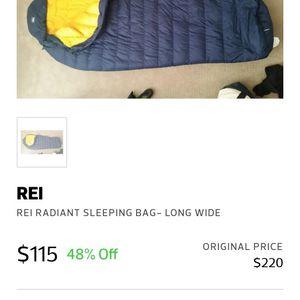 Rei Radiant Mummy Sleeping Bag for Sale in Long Beach, CA