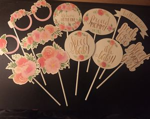 12 piece - Floral Baby Photo Booth Props for Sale in Cheshire, CT