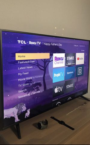"Like new. 50"" TCL 5 Series Smart Roku 4K HDR flat screen tv. $320 FIRM. USF area and pickup ready. for Sale in Tampa, FL"