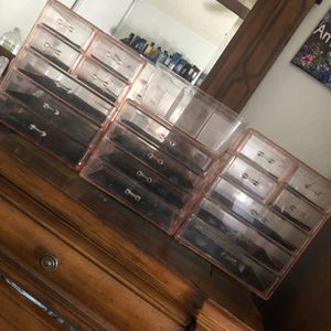 Acrylic Makeup Drawers Rose for Sale in Ontario, CA