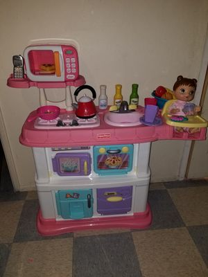 Fisher price kitchen for kids for Sale in Rancho Cucamonga, CA