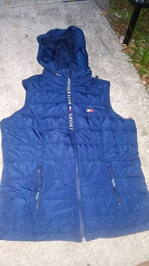 Tell me Hilfiger hoody vest men's jacket for Sale in Alafaya, FL