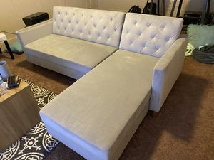 Like new L shaped couch turns to bed for Sale in Stockton, CA