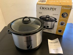 4.5QT Crock Pot - The Original Slow Cooker for Sale in Fullerton, CA