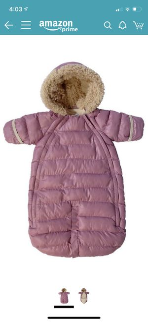 7 AM Enfant Doudoune One Piece Infant Snowsuit Bunting, Lilac, Large for Sale in Queens, NY
