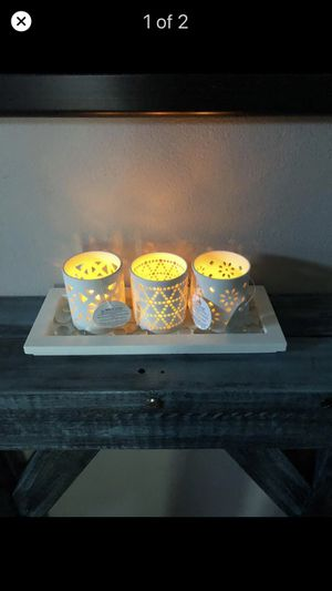 new ceramic candle holder lights included for Sale in Orlando, FL