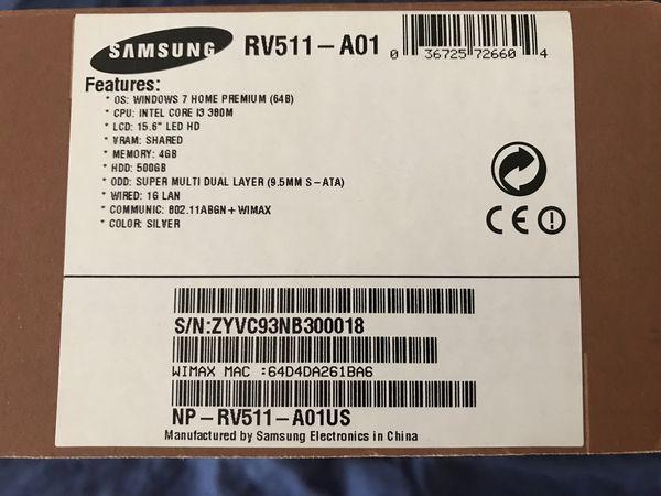 Samsung Laptop RV511-A01US