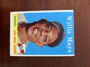 1958 Topps Willie Mays San Francisco Giants for Sale in Raynham, MA