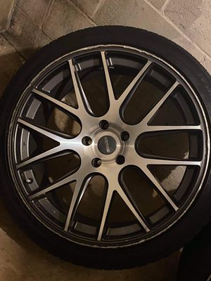 Silver & Black Rims Size 21 for Sale in Fall River, MA