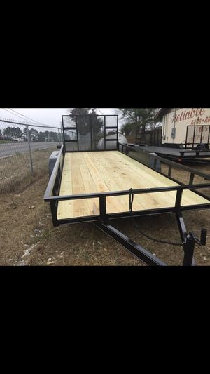 New 2019 76x16 tandem utility trailer for Sale in Andover, MA