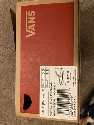 Pink Skate Hi Vans for Sale in Tampa, FL