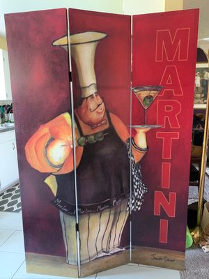 Large Canvas Room Divider-Martini/Coffee Decor for Sale in Vancouver, WA