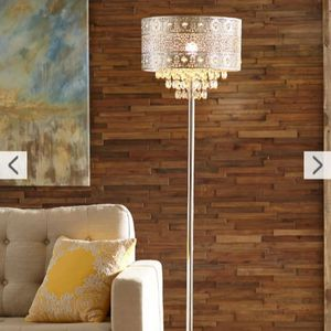 Silver Orchid Bacall Trendy Sheer Shade Floor Lamp and Hanging Crystals for Sale in Naples, FL