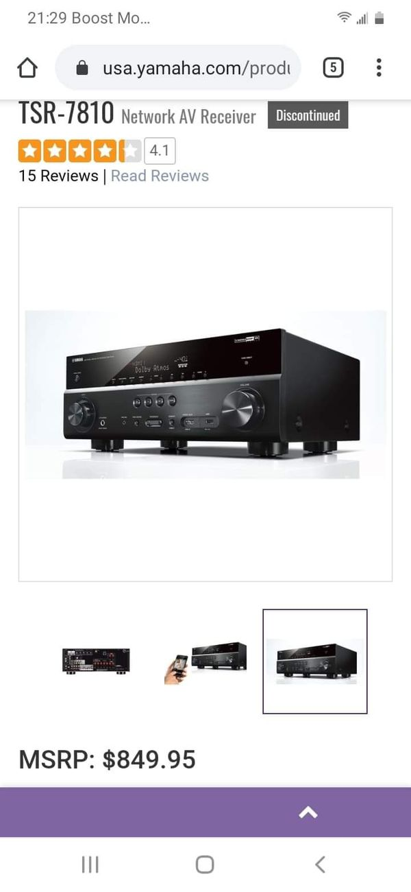 Yamaha TSR-7810 av receiver
