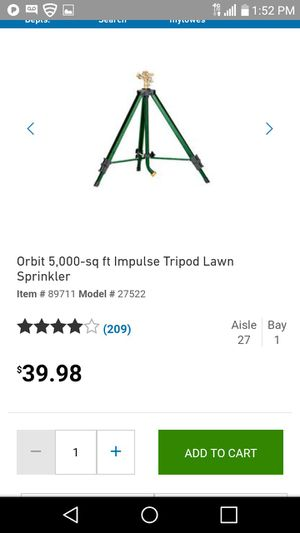 Tripod sprinkler for Sale in Tampa, FL