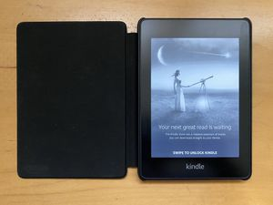 Kindle Paperwhite (Latest Generation) + Leather Cover for Sale in Bellevue, WA