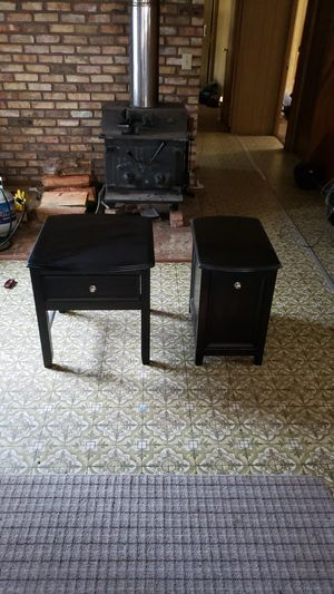 End tables with pull out and drawer for Sale in Cle Elum, WA