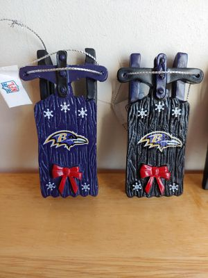 Ravens Ornaments NFL Purple Black Sleds Sleigh Decor Football for Sale in Lake Shore, MD