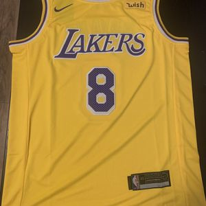Kobe Bryant Number 8 Yellow Los Angeles Lakers Jersey for Sale in Los Angeles, CA