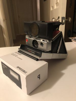 Polaroid SX-70 land camera with rangefinder focus and Flash Bar for Sale in Las Vegas, NV