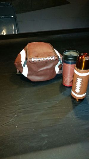 Football cooler, thermos & cup for Sale in Brooklyn, OH