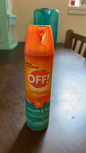 SC Johnson OFF! FamilyCare Insect Repellant - Smooth & Dry 4oz for Sale in Ithaca, NY