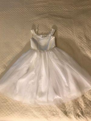 Girls size 7 white dress, communion dress, flower girl dress for Sale in Orlando, FL