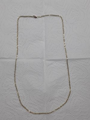 Real 10kt gold thin rope chain. 18 inches. Diamond cut. 300 obo no low balls. REAL GOLD 10KT for Sale in Mechanicsburg, PA