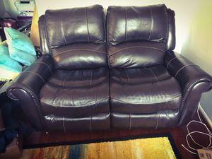 Leather Loveseat Recliner - Bob's Discount Furniture for Sale in Alexandria, VA