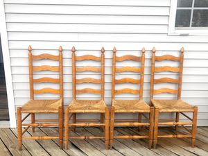 4 vintage woven chairs for Sale in Nashville, TN