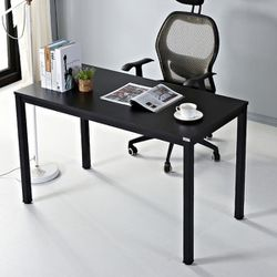 """47"""" Black Oak Simple Office Writing Desk, modern AUXLEY computer desk for small space. STURDY & STABLE, LARGE SMOOTH DESKTOP SURFACE, WOOD METAL M for Sale in Temple City,  CA"""