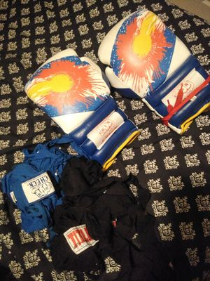 Gloves ,2 hand raps and boxing backpack for Sale in Denver, CO