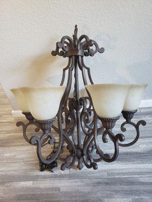 Large 6 light chandelier for Sale in Lynnwood, WA