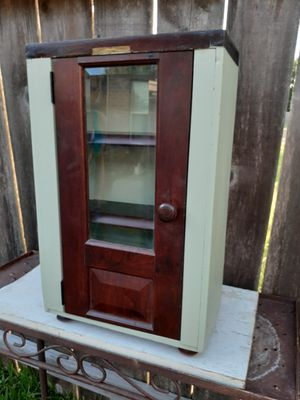 Custom-made small antique cabinet for Sale in Houston, TX