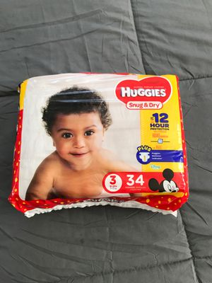 Size 3 Diapers for Sale in Beltsville, MD