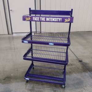 Purple Commercial Metal Rolling 4 Shelf Rack for Sale in Fresno, CA